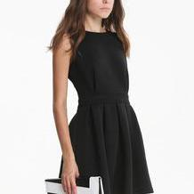 Fashionwear Black Sleeveless Backle..