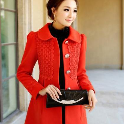 High Quality Woolen Coats With Fur ..