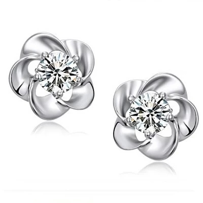 Lovely plum blossom fashion crystal earrings