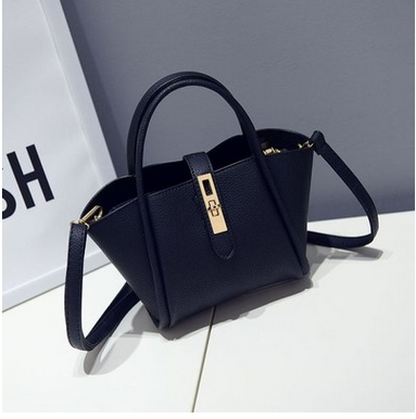 Pu leather women's single shoulder hand steamed stuffed bun female bag SD