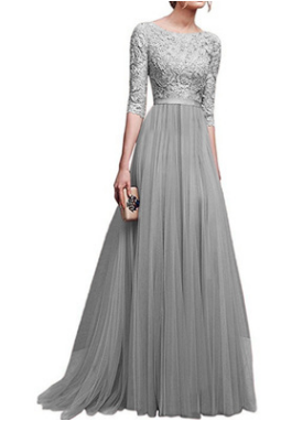 Autumn/winter new chiffon evening gown