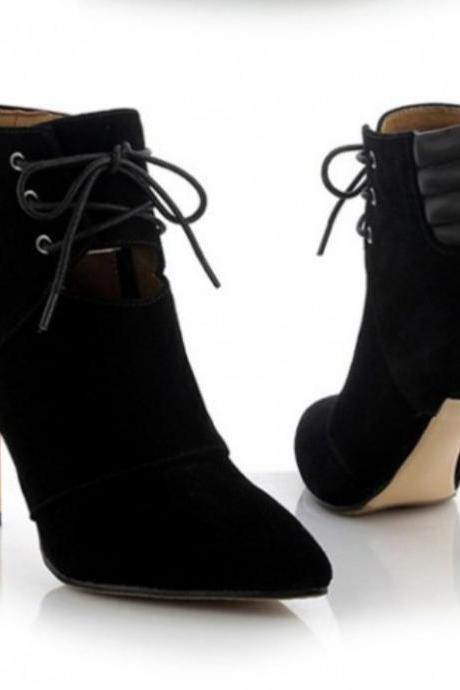 Black Fashion Ladies High Heels High-Heeled Shoes For Women