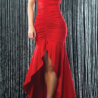 Sexy dance skirt Fine strapless cocktail dress dress 9040